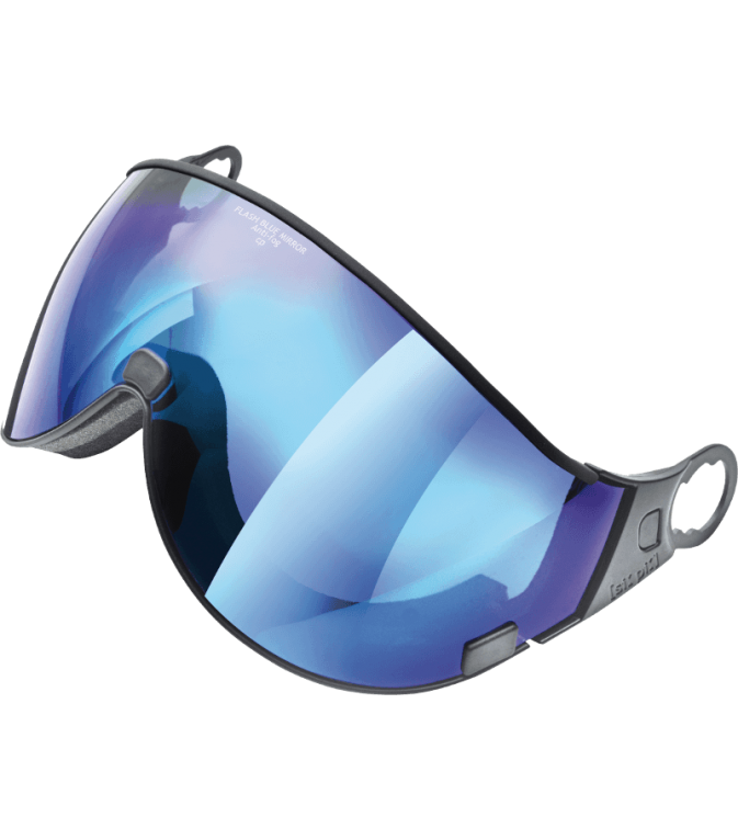 visor flash blue mirror