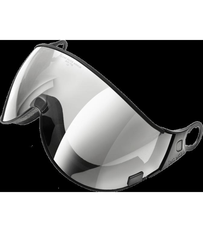 visor clear silver mirror